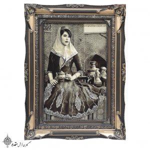 تابلو فرش ایراندخت قاجار