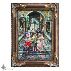 تابلو فرش دستباف عروسی شاهزاده