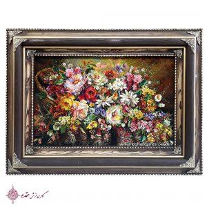 تابلوفرش گل هزار رنگ