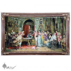 تابلو فرش دستباف عروسی ناپلئون نفیس