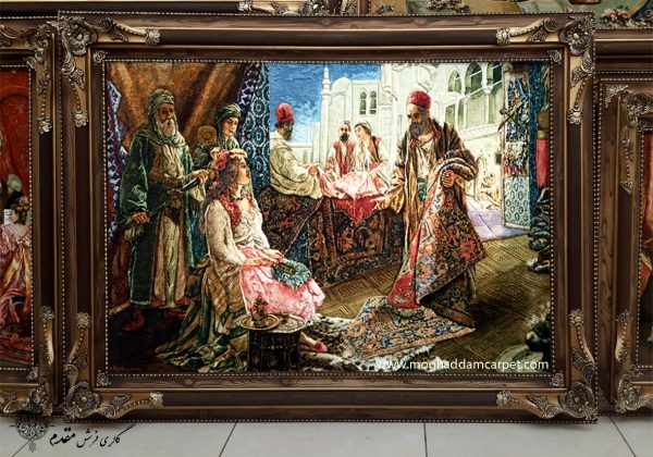 تابلو فرش دستباف نفیس شاهزاده شرقی