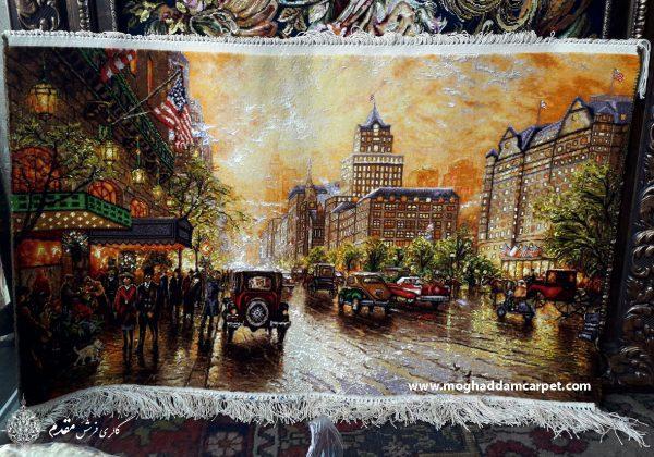 تابلو فرش دستباف نفیس نیویورک