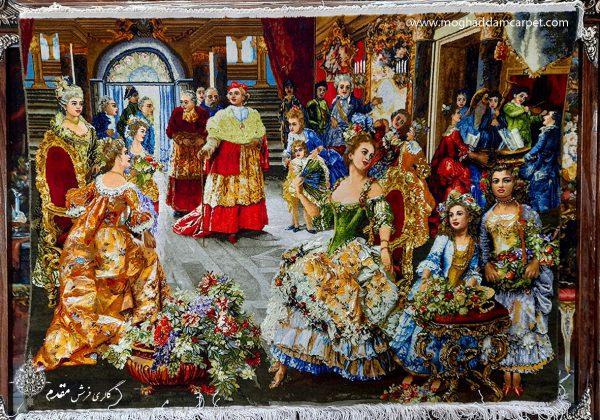 تابلو فرش دستباف نفیس مهمانی پاپ