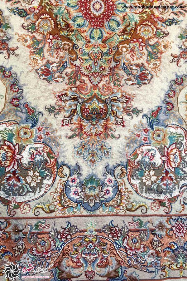 قالیچه دستباف خطیبی جفت 40 رج