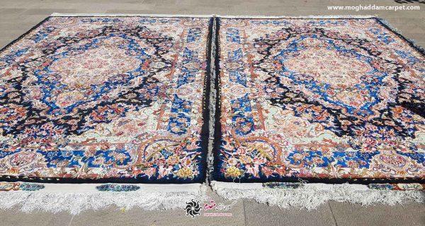 فرش دستباف نفیس سالاری جفت 6 متری